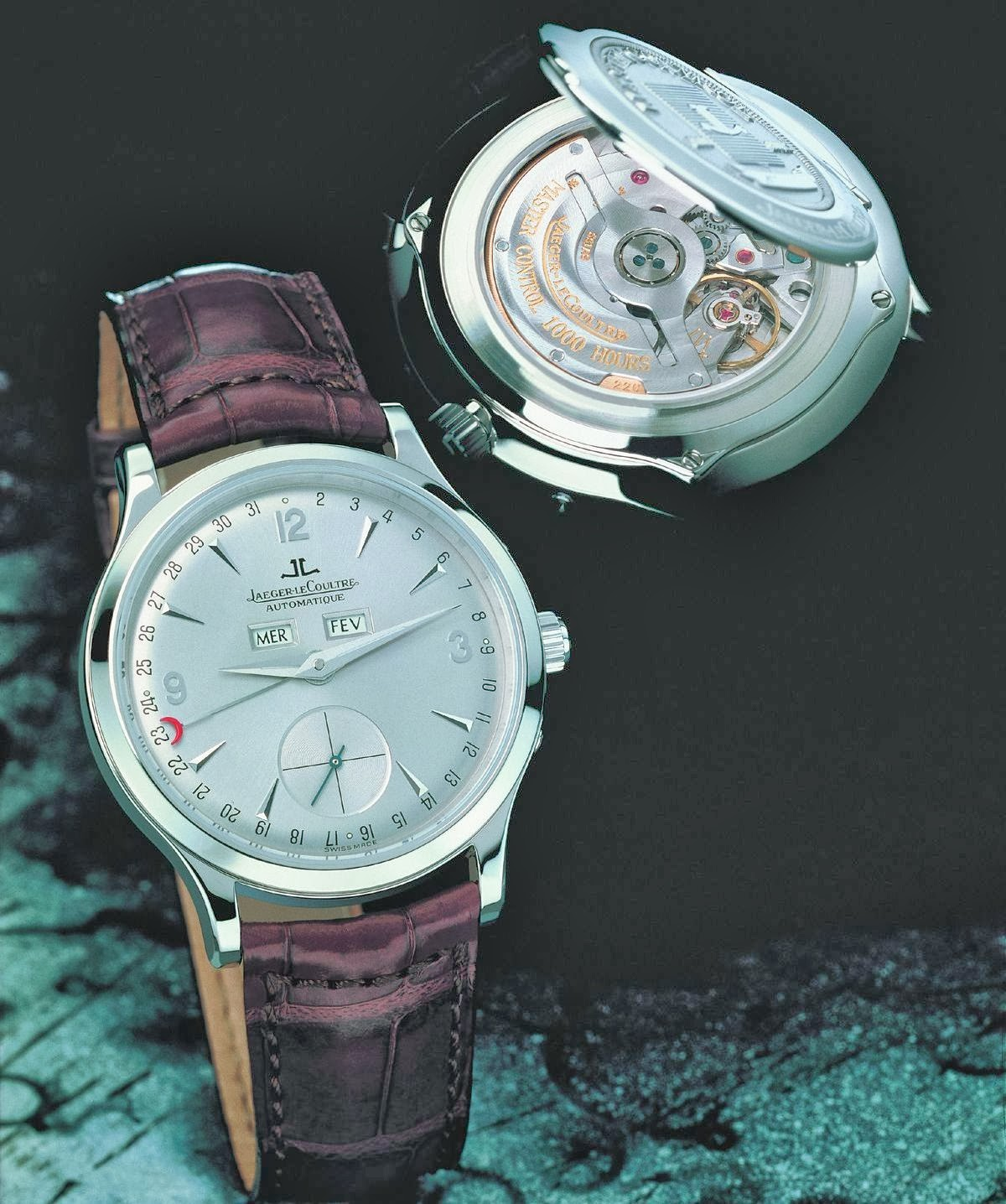Jaeger-Lecoultre Master Date or gris