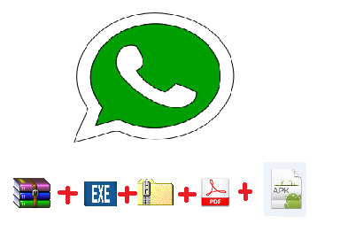 How To Share  APK , PDF, EXE , RAR , ZIP  Files Via Whatsapp