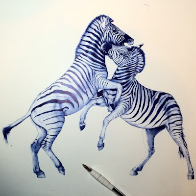 Bic Pen Paintings