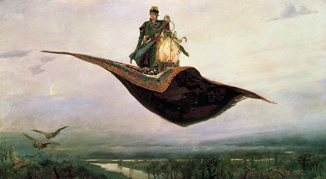 Магьосник на летящо килимче