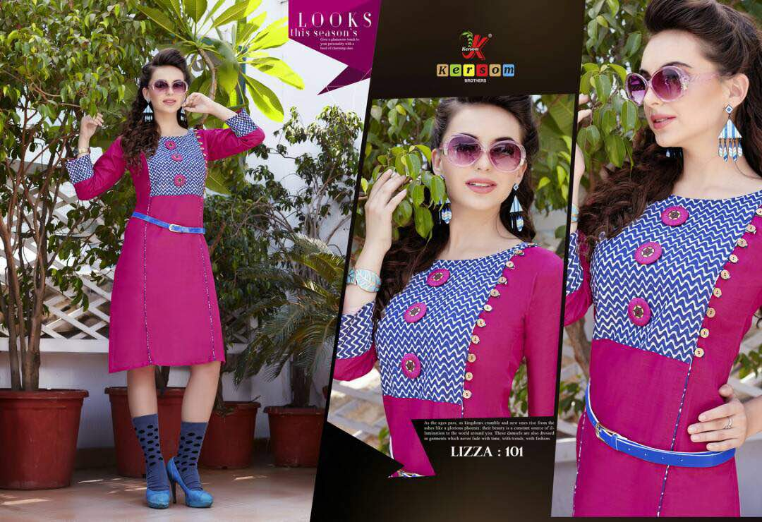 Lizza – Famous And Glorious Kurti Collection Wholesale