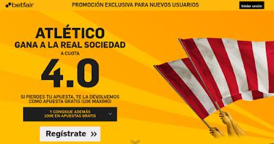 betfair Atletico gana Real Sociedad supercuota 4 Liga 1 marzo