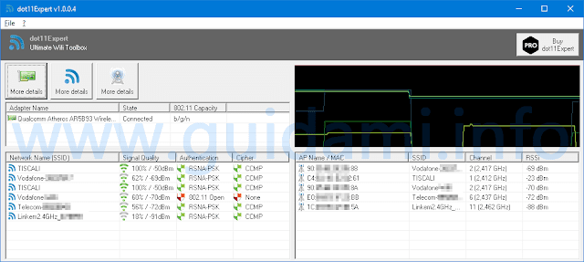 dot11expert interfaccia grafica