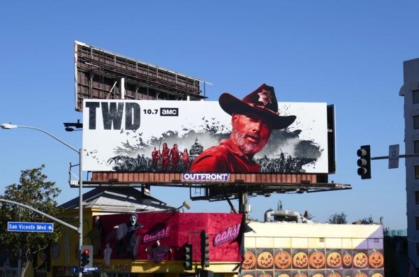 Walking Dead season 9 cutout billboard