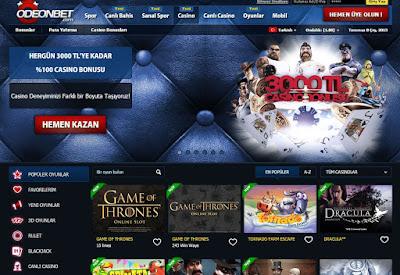 Odeonbet casino oyunlarına giriş yazısı