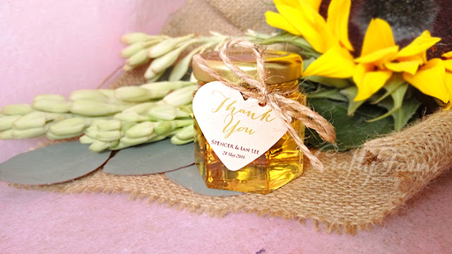Honey Jar Favours with Jute String and Tag, Hantaran Kahwin