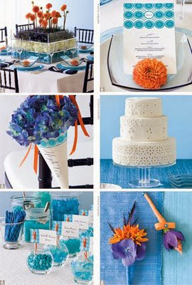summer wedding blue color decoration