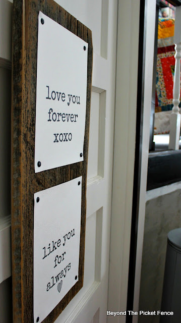canvas paper, easy decor, rustic sign, valentines day, love sign, simple, heart, love you forever, Robert Munsch, Beyond The Picket Fence,http://bec4-beyondthepicketfence.blogspot.com/2016/01/love-you-forever-easy-valentine-decor.html