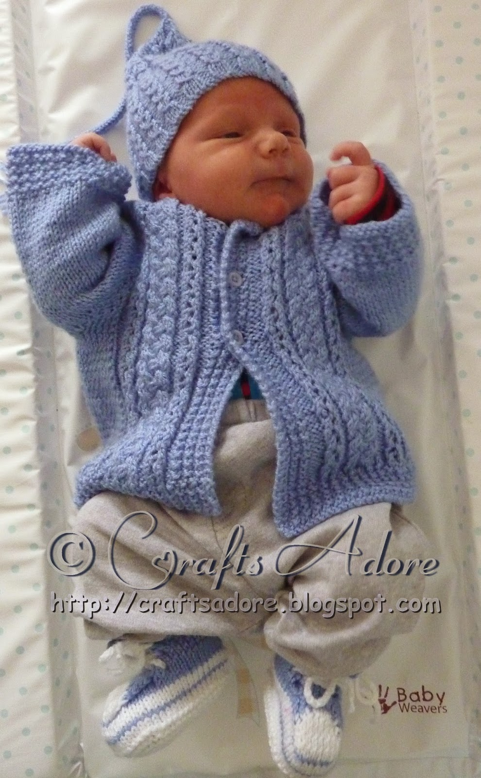Craftsadore Quot Handsome Cables Quot Knitted Baby Boy Cardigan