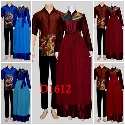 Baju Batik Sarimbit Gamis Untuk Ibu Ibu