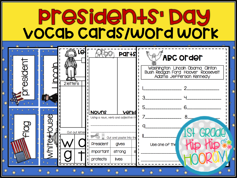 1st Grade Hip Hip Hooray Presidents Day