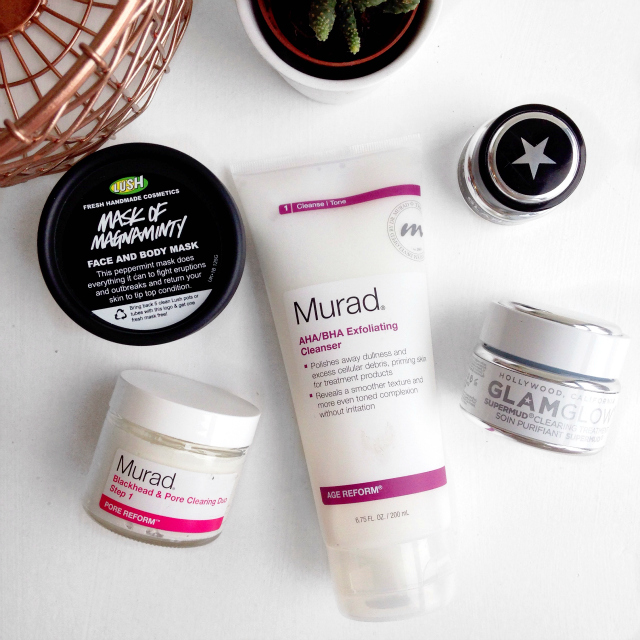 acne story, skincare routine, garnier, murad, image, skin ceuticals, lush, glamglow, oily skin, irish beauty