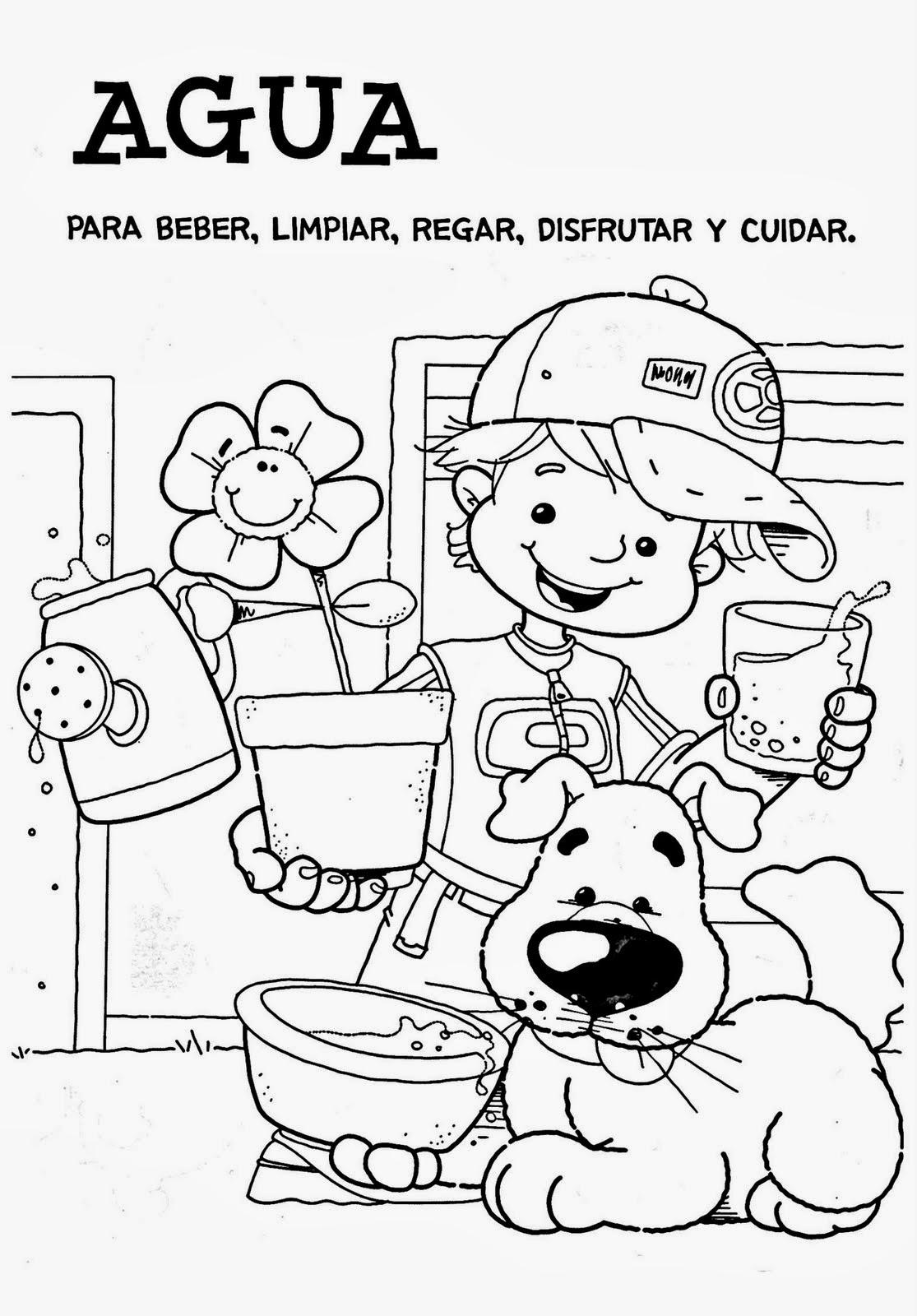 Día del Agua para colorear ~ Dibujos para Niños