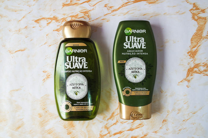 summer hair care routine: Garnier olive oil shampoo and conditioner