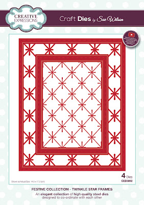 Festive Collection Twinkle Star Frames Dies - CED3092