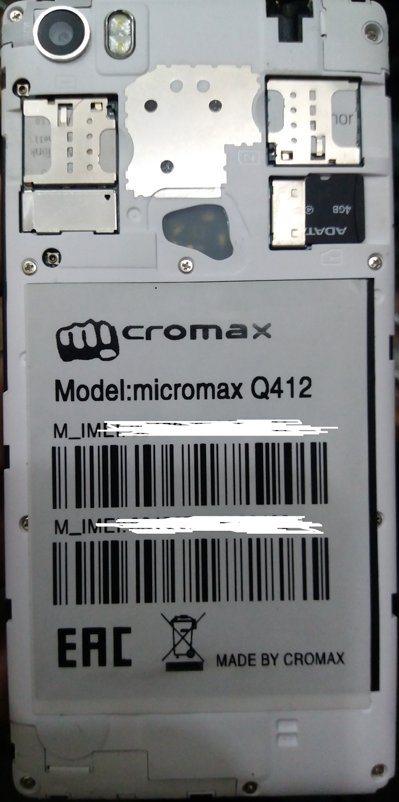 Maqsood Mobile Software: Micromax Q412 MT6735 Flash File
