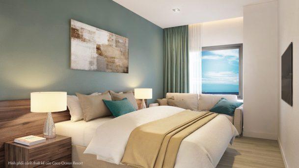 Phòng ngủ căn hộ 2 Phòng Ngủ Chung cư 6TH ELement