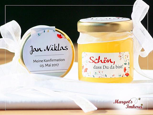 Honig - süße Gastgeschenke zur Hochzeit, Kommunion, Konfirmation, Taufe oder Geburtstag