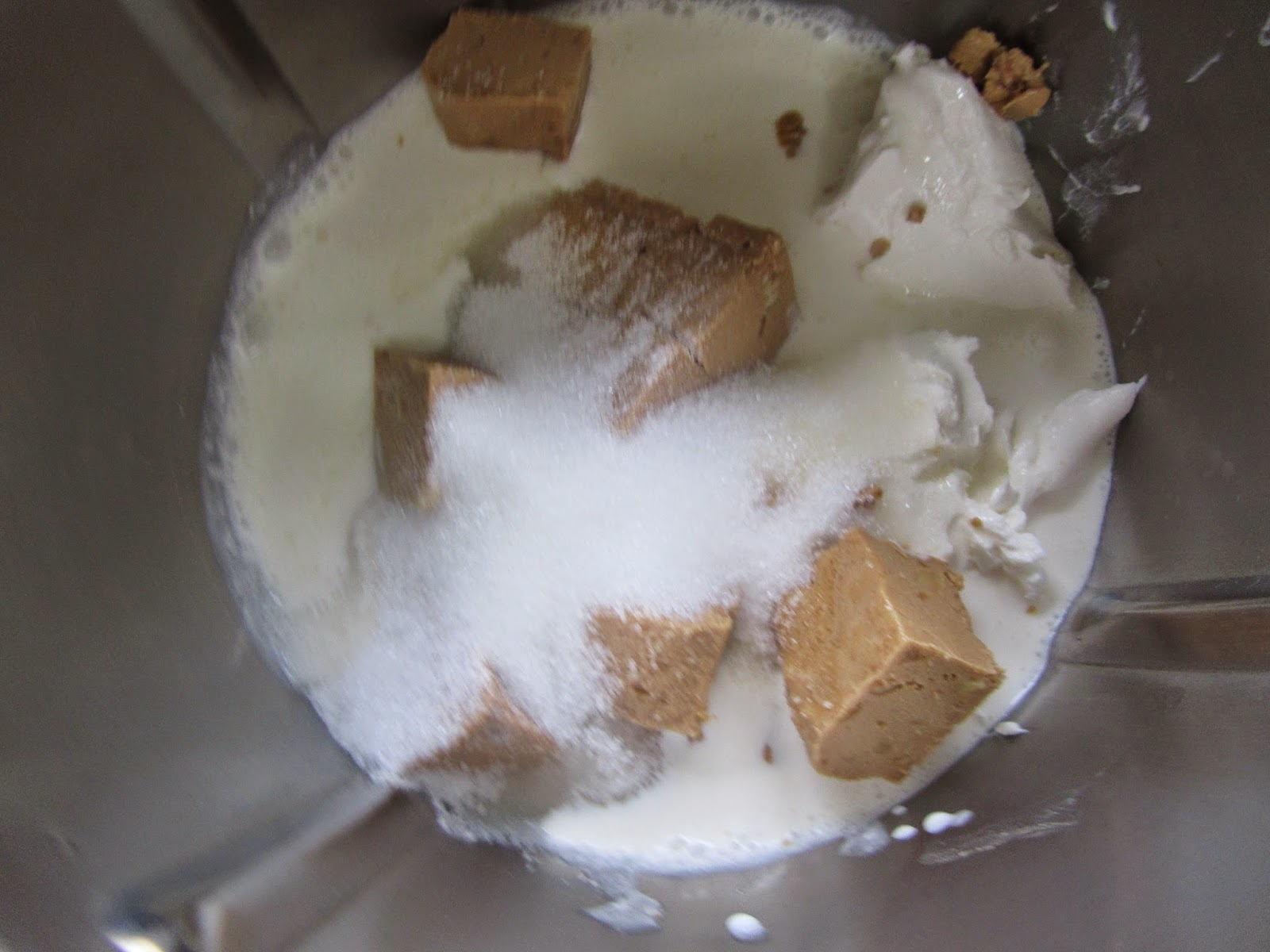 Panna cotta de turrón y queso Thermomix