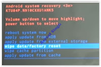 wipe data factory reset Samsung note 4
