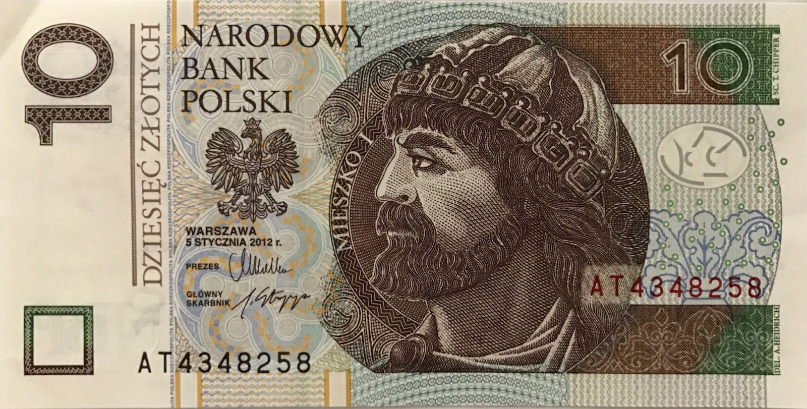 Foreign Banknotes: Poland Banknote, 2012 Series (
