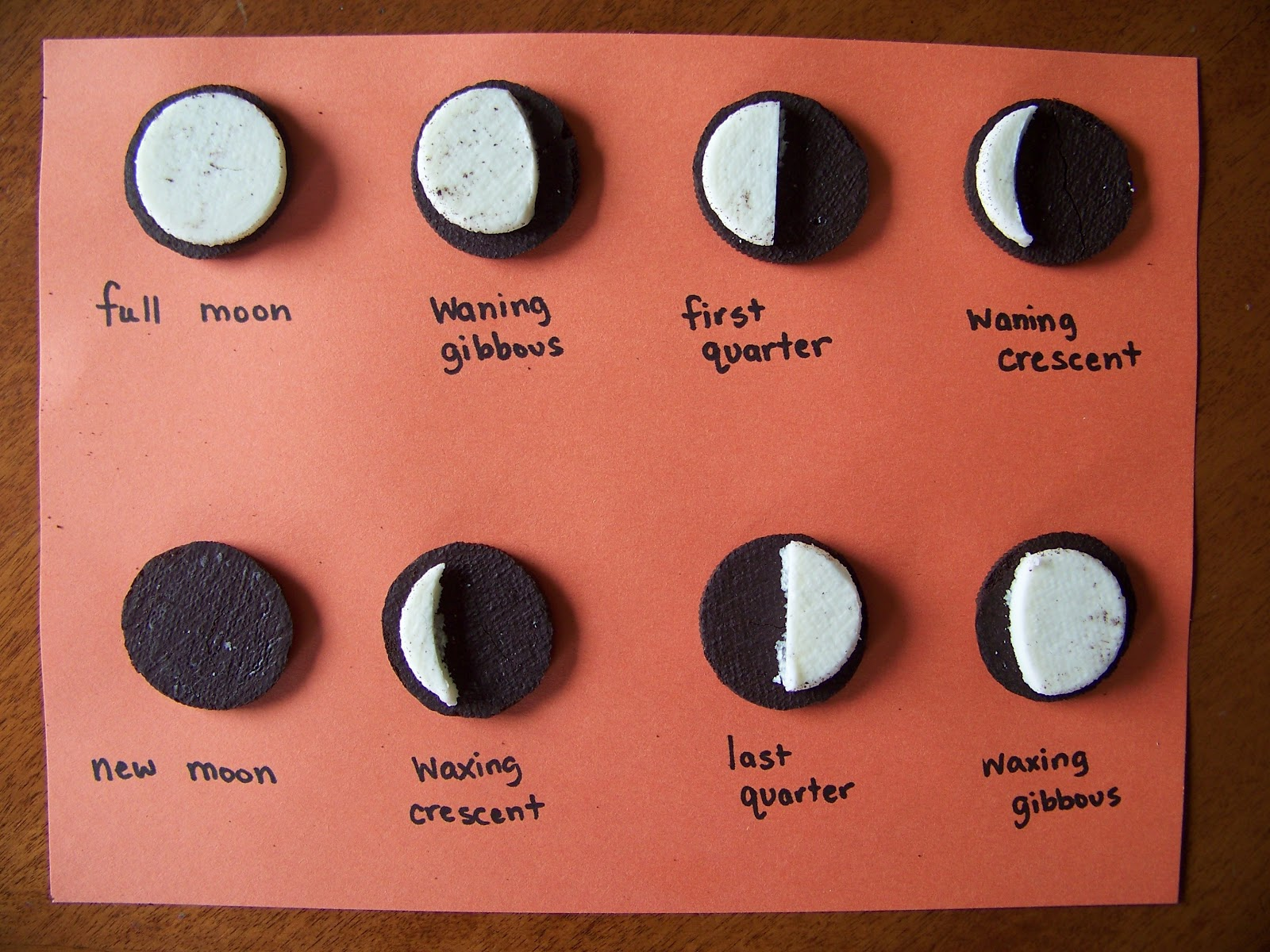 My Four Girls Phases Of The Moon Oreos