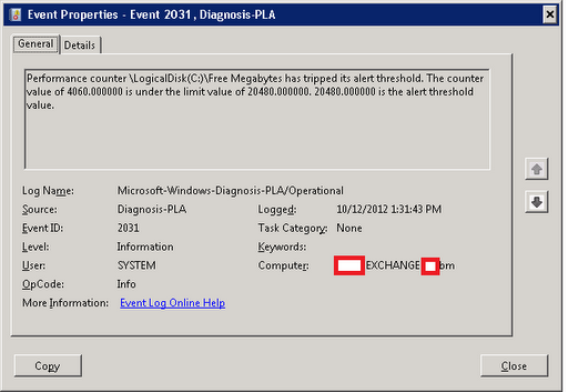 TeamXchange: Creating Disk Space Alert Logs on Event-viewer