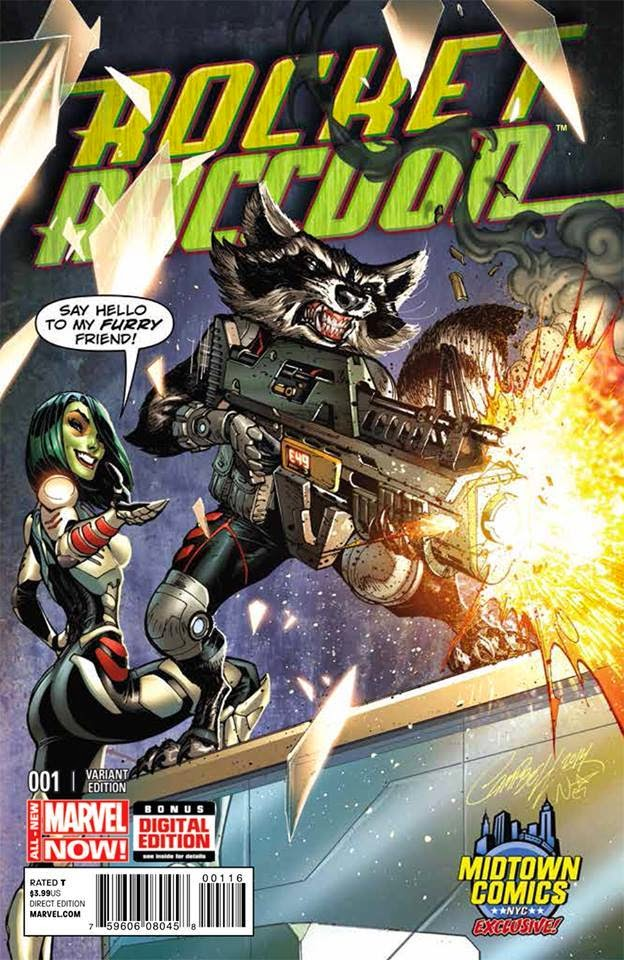 Fashion and Action: Rocket Raccoon Comic Cover Art by ...