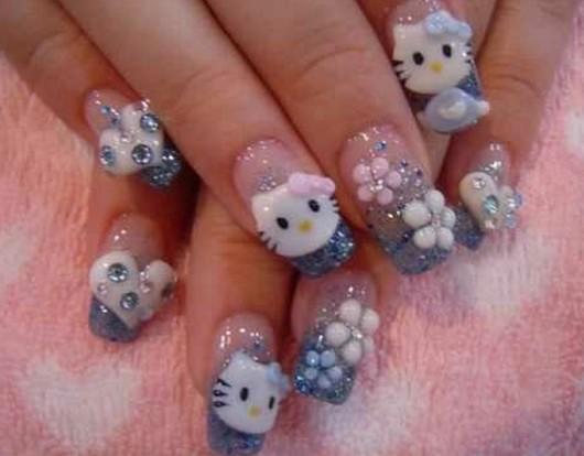 Todo Sobre Manos Y Pies Fotos De Uñas De Hello Kitty