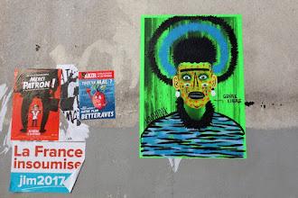 Sunday Street Art : Kashink - rue de Belleville - Paris 20