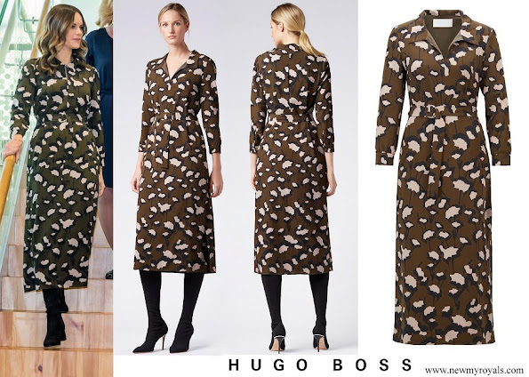 Princess Sofia wore Hugo Boss Patterned Italian Floral print Dress
