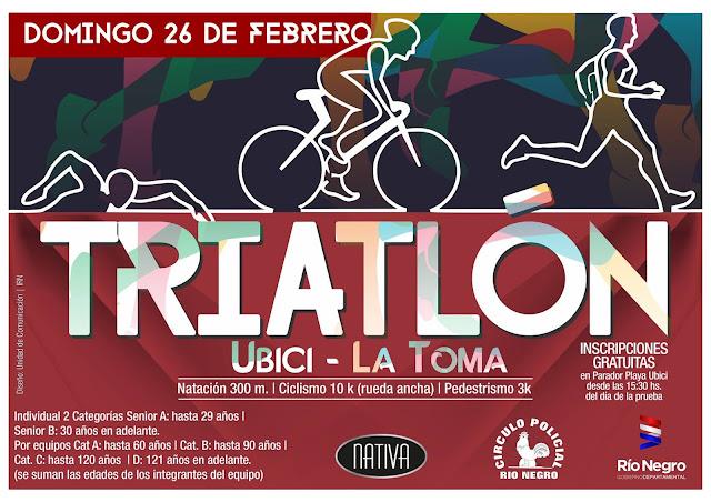 Triatlón Ubici - La Toma en Fray Bentos (Río Negro - URU, 26/feb/2017)