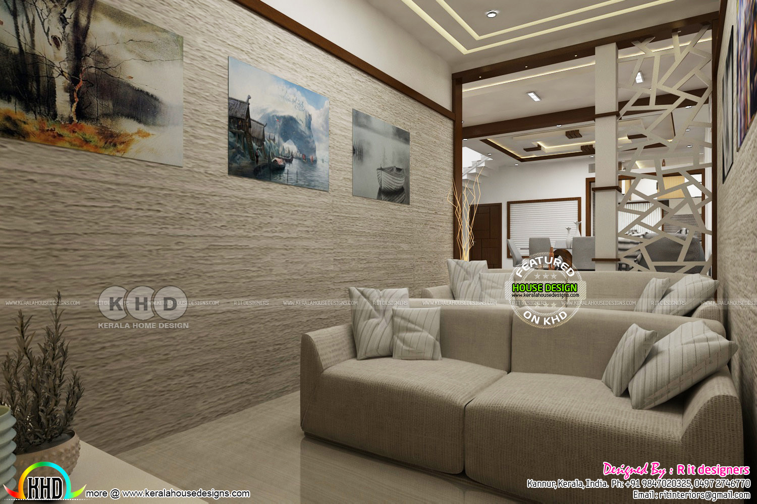 Modern Interior Design Works In Kerala