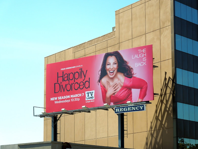 Happily Divorced series 2 billboard