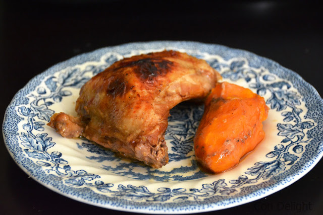 עוף בתנור עם בטטות Sweet potato and chicken