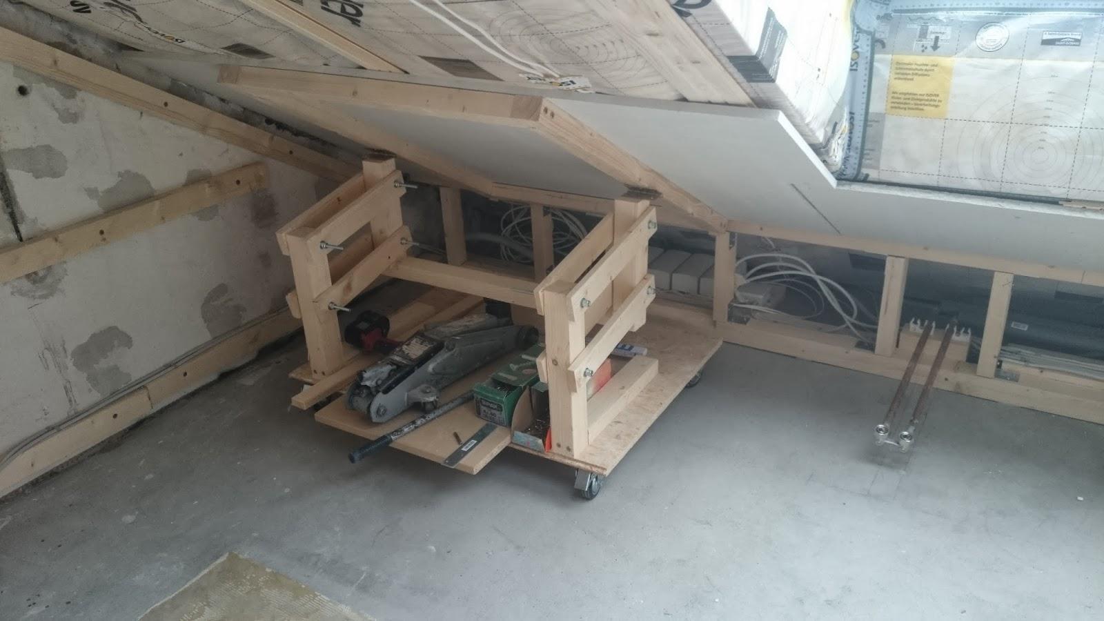 gipskartonplatten alleine an einer dachschr ge montieren werkraum. Black Bedroom Furniture Sets. Home Design Ideas