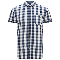 Jack & Jones Originals Men's Short Sleeved East Shirt - Cloud Dancer