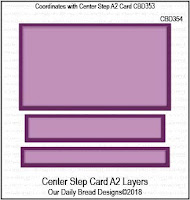 ODBD Custom Center Step Card A2 Layers Dies