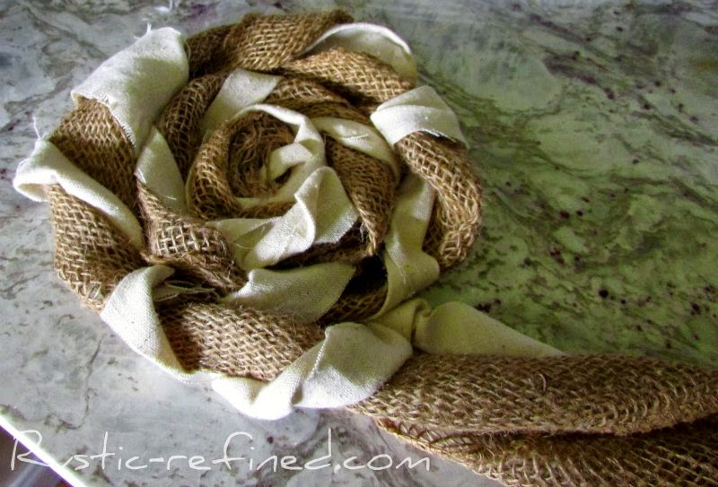 How to make Burlap Nests @ Rustic-refined.com
