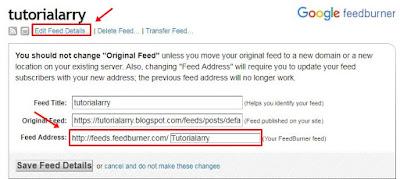 Cara Mengetahui URL Feed Bunner