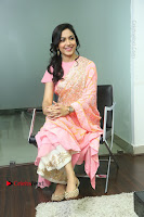Actress Ritu Varma Pos in Beautiful Pink Anarkali Dress at at Keshava Movie Interview .COM 0221.JPG