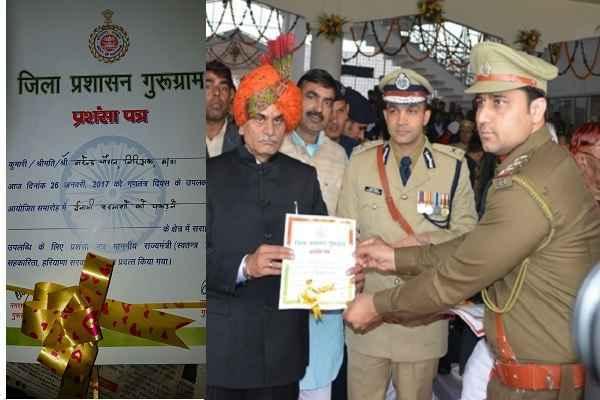 इनामी बदमाशों को पकड़कर लगातार दूसरी बार नरेन्द्र चौहान ने जीता 'बहादुरी का सम्मान'