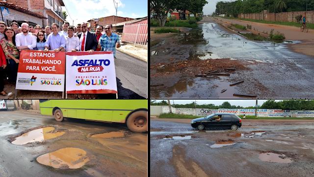 SERVIÇO DE SUÍNO: Edivaldo Holanda Junior joga resto de asfalto sonrisal no São Raimundo e veja no que dá