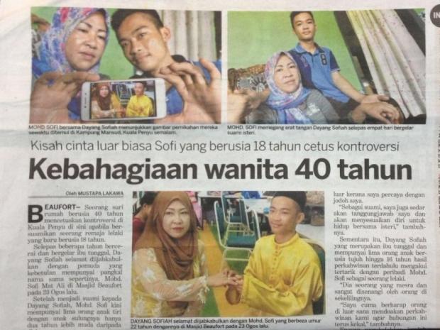 Remaja 18 tahun nikah janda anak 5 jadi viral - Berita Malaysia