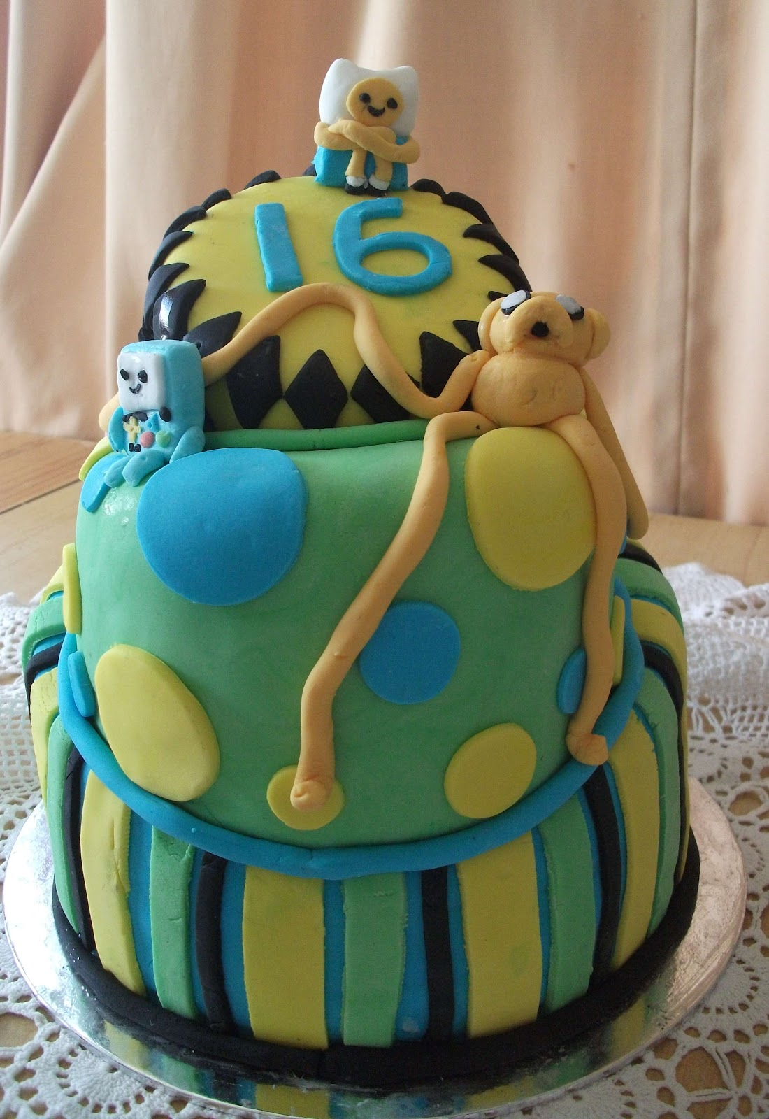 Papercats Crafts Adventure Time Topsy Turvey Cake