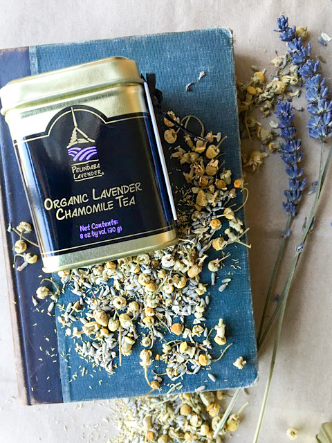 Herbal Caffeine-Free Tea made with our organic lavender for bedtime