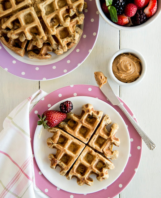 Elvis-Inspired Peanut Butter Banana Waffles