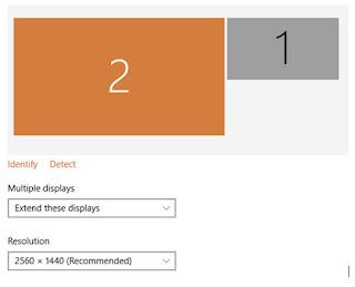 cara menyesuaikan tampilan dual monitor pada windows