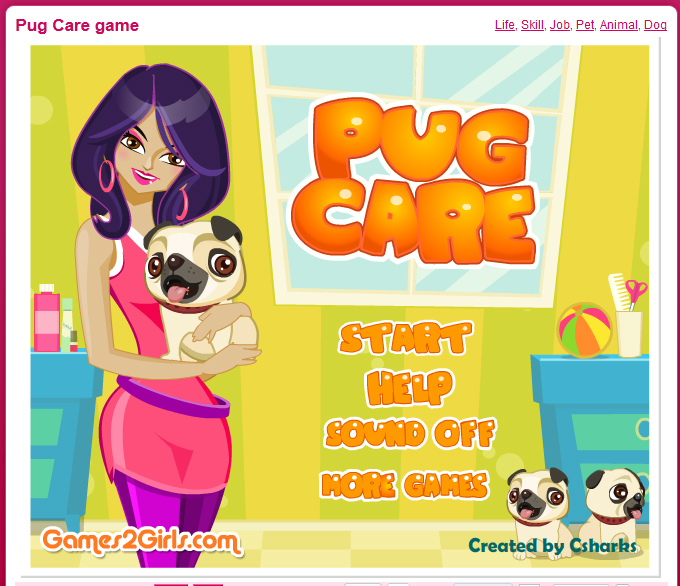 pug care game pug care game in quot digi games quot sari p 246 yry 1493