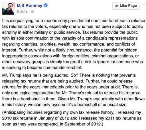 "The Randy Report: Mitt Romney On Donald Trump ""It Is"